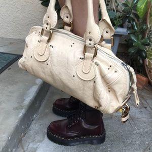Vintage cream Chloe pebbled leather bag